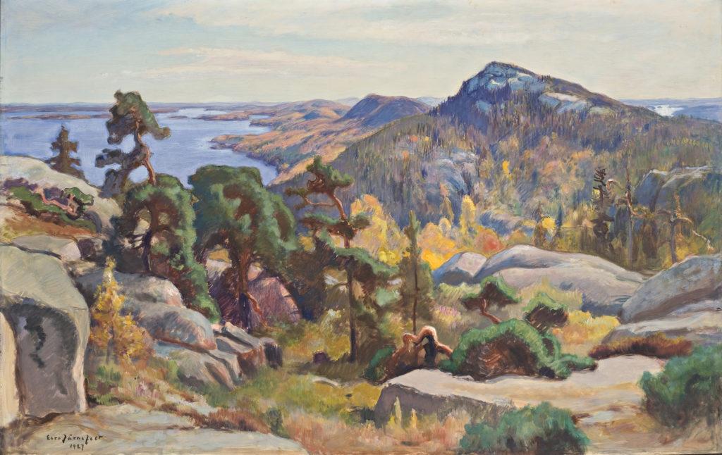 Eero Järnefeltin maalaus Kolin huipulta.