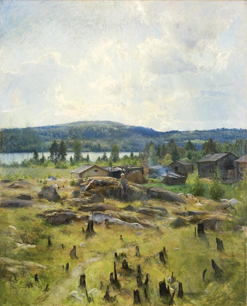 Eero Järnefelt, Heinäkuun päivä, 1891, Hämeenlinnan taidemuseo. Kuva: Reima Määttänen