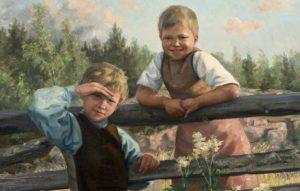 Nina Ahlstedt, Tien vieressä, 1888, Fortumin taidesäätiö