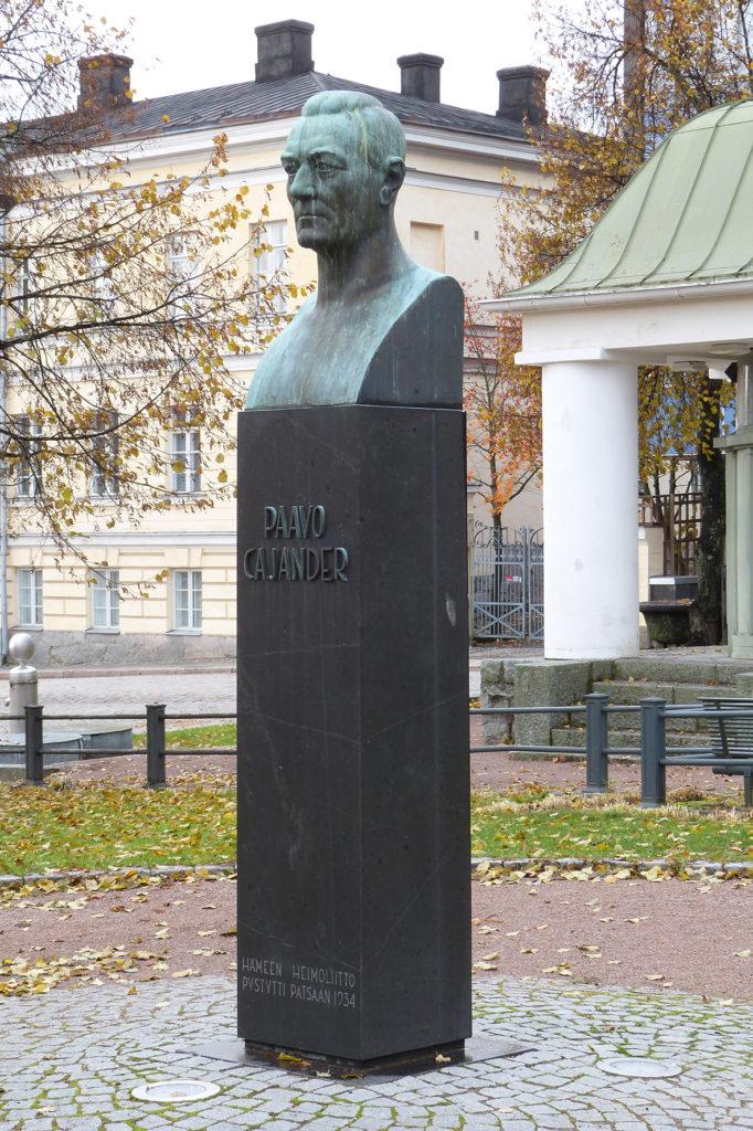 Alpo Sailo, Paavo Cajander, 1933, pronssi, kuva Reima Määttänen, Hämeenlinnan taidemuseo